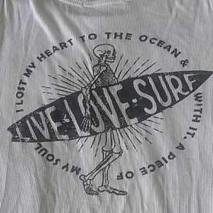 Graphic Skeleton Surf Tank Top XXL